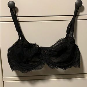 Victoria's Secret black lace bra